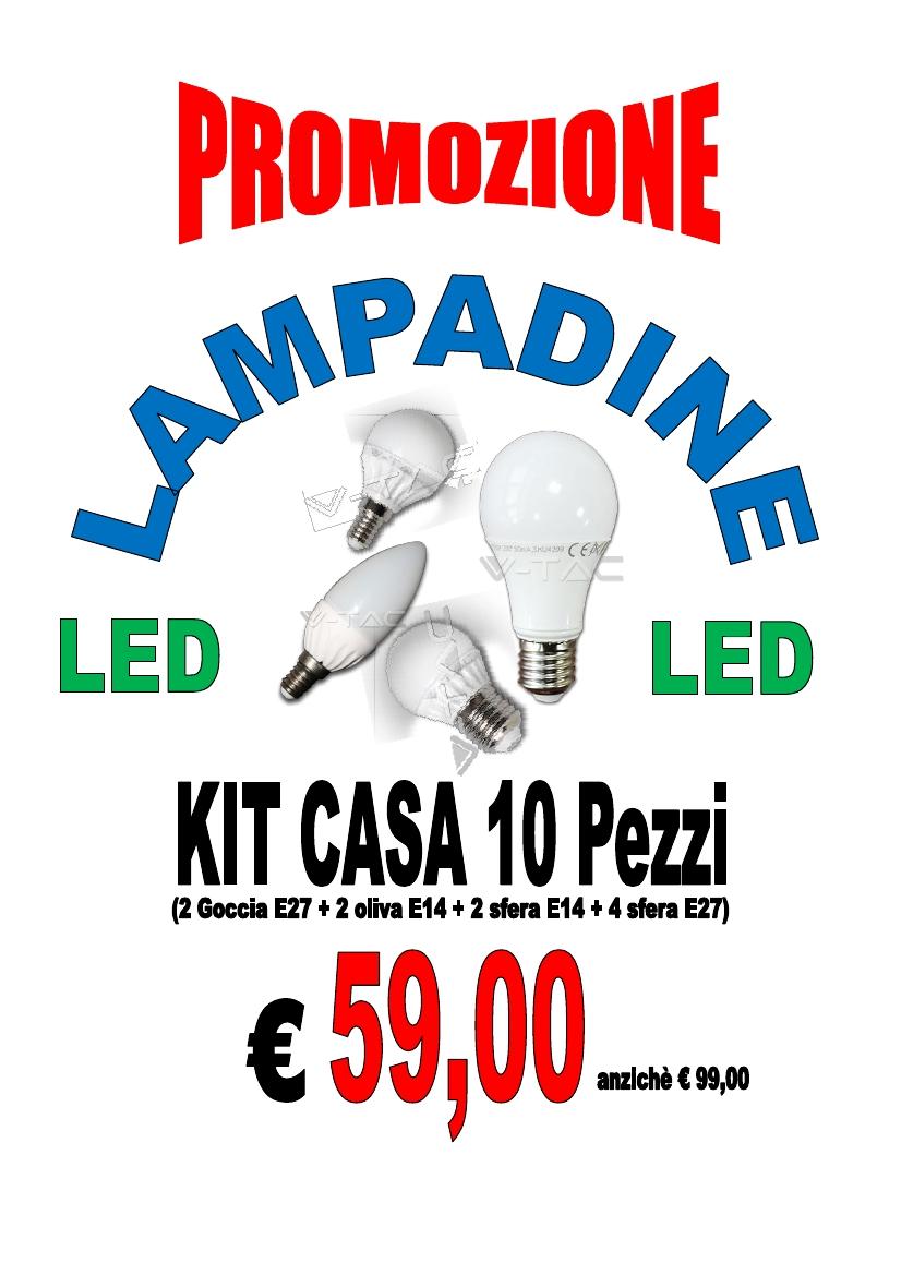 Promo lampadine led kit casa for Lampadine led casa